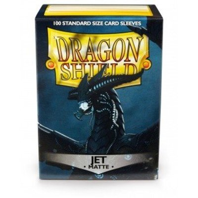 Dragon Shield Standard Sleeves Matte Jet Black (100 Sleeves)