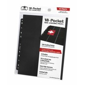 Ultimate Guard 18-Pocket Pages Side-Loading Black (10)