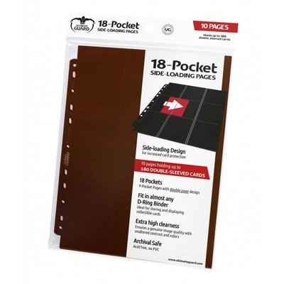 Ultimate Guard 18-Pocket Pages Side-Loading Brown (10)