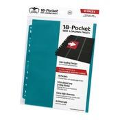 Ultimate Guard 18-Pocket Pages Side-Loading Petrol Blue (10)