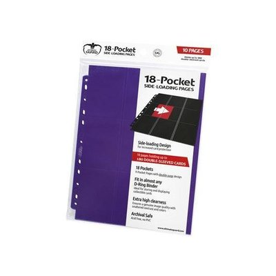 Ultimate Guard 18-Pocket Pages Side-Loading Purple (10)