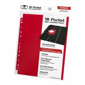 Ultimate Guard 18-Pocket Pages Side-Loading Red (10)