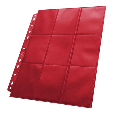 Ultimate Guard 18-Pocket Pages Side-Loading Red (50)
