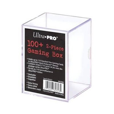 Ultra Pro 2-Piece Storage Box - voor 100+ kaarten - Transparant