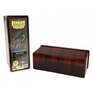 Dragon Shield 4 Compartment Storage Box Brown