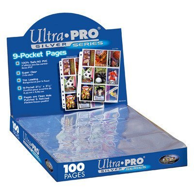 Ultra Pro 9-pocket Silver Pages