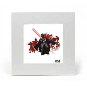 Star Wars Art Print Darth 20 x 20 cm