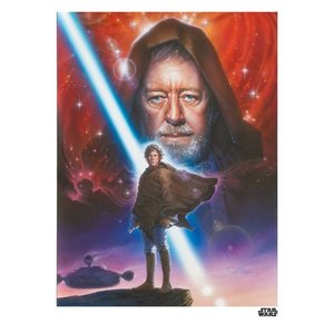 Star Wars Art Print Obi Wan 35 x 28 cm