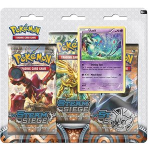 Pokemon TCG Azelf Steam Siege XY11 3-Booster Blister