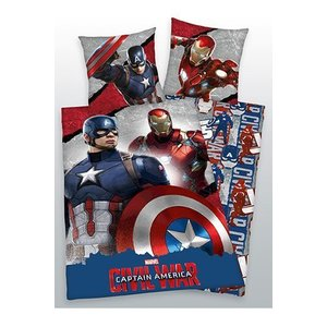 Marvel Comics Captain America Civil War Duvet Set Tony & Steve 135 x 200 cm / 80 x 80 cm