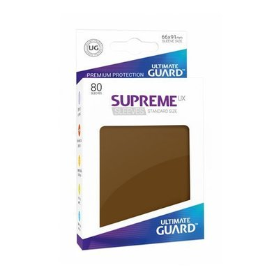 Ultimate Guard Supreme UX Sleeves Standard Size Brown (80)