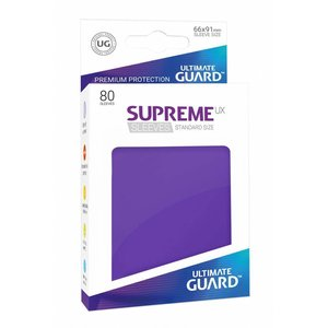 Ultimate Guard Supreme UX Sleeves Standard Size Purple (80)