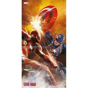 Marvel Comics Glass Poster Fight Civil War 60 x 30 cm