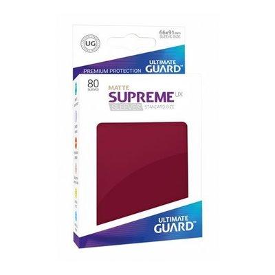 Ultimate Guard Supreme UX Sleeves Standard Size Matte Burgundy (80)