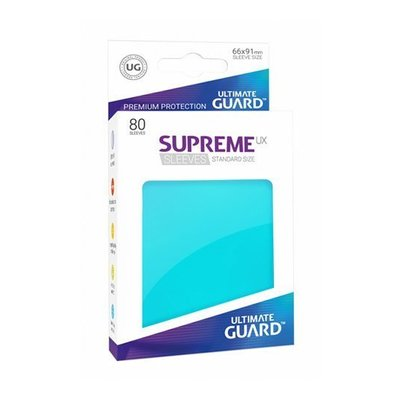 Ultimate Guard Supreme UX Sleeves Standard Size Aquamarine (80)