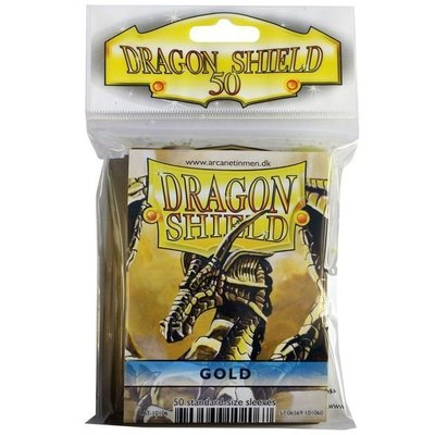Dragon Shield Standard Sleeves Gold (50 Sleeves)