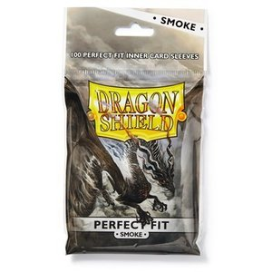 Dragon Shield Standard Perfect Fit Sleeves Clear/Smoke (100 Sleeves)