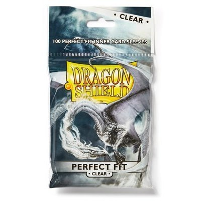 Dragon Shield Standard Perfect Fit Sleeves Clear/Clear (100 Sleeves)