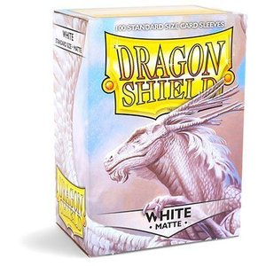 Dragon Shield Standard Sleeves Matte White (100 Sleeves)
