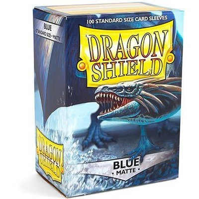 Dragon Shield Standard Sleeves Matte Blue (100 Sleeves)