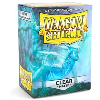 Dragon Shield Standard Sleeves Matte Clear (100 Sleeves)
