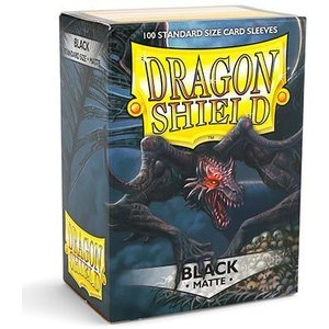 Dragon Shield Standard Sleeves Matte Black (100 Sleeves)