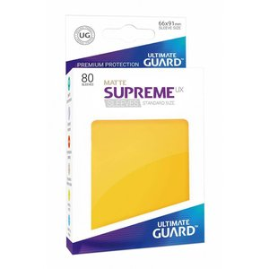 Ultimate Guard Supreme UX Sleeves Standard Size Matte Yellow (80)