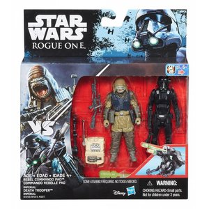 Star Wars Hasbro Rogue One Action Figure 2-pack 10 cm Rebel Commando Pao & Imperial Death Trooper
