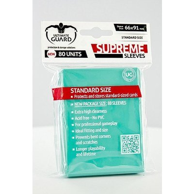 Ultimate Guard Supreme Sleeves Standard Size Turquoise (80)