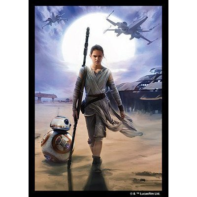Fantasy Flight Games Rey Artwork Limited Edition Sleeves: Star Wars The Force Awakens