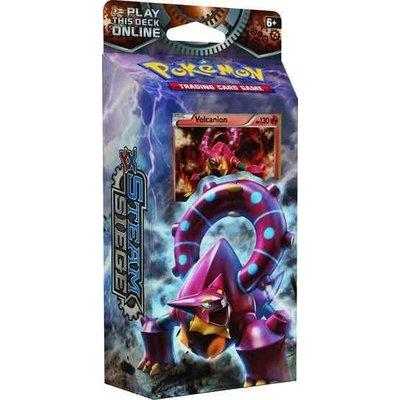 Pokemon TCG SET Steam Siege XY11 ''Gears of Fire'' & ''Rings of Lightning'' Theme Decks