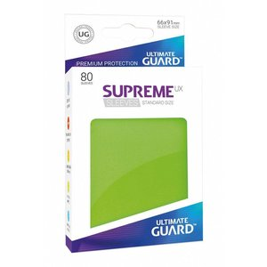 Ultimate Guard Supreme UX Sleeves Standard Size Light Green (80)