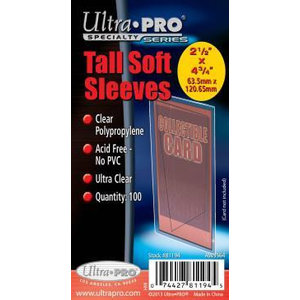Ultra Pro Tall Soft Sleeves 2 1/2 X 4 3/4