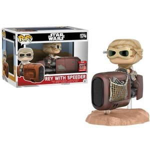 Funko POP! Rey with Speeder Vinyl Figure Set (2) 10cm/15cm long Exclusive limited