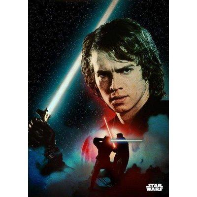 Star Wars Metal Poster Anakin Duel 32 x 45 cm