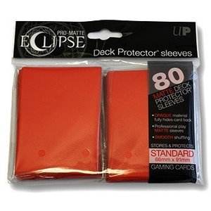 Ultra Pro PRO-Matte Eclipse Standard Sleeves - Red (80 Sleeves)