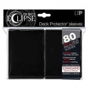 Ultra Pro PRO-Matte Eclipse Standard Sleeves - Black (80 Sleeves)