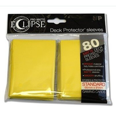 Ultra Pro PRO-Matte Eclipse Standard Sleeves - Yellow (80 Sleeves)