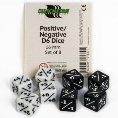 Blackfire Dice Positief/Negatief Dobbelstenen - 16 mm (8 stuks)