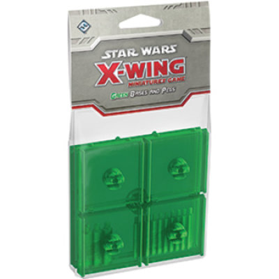 Star Wars X-Wing Green Bases and Pegs Expansion Pack