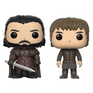 Funko POP! Game of Thrones - Jon Snow & Bran Stark Vinyl Figures 2-Pack 9 cm