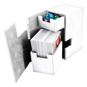 Ultimate Guard Flip'n'Tray  Deck Case 80+ Standard Size XenoSkin White