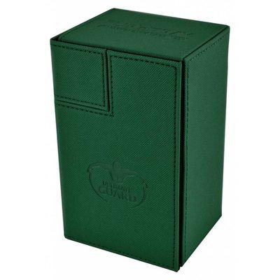 Ultimate Guard Flip'n'Tray  Deck Case 80+ Standard Size XenoSkin Green
