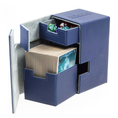 Ultimate Guard Flip'n'Tray  Deck Case 100+ Standard Size XenoSkin Blue