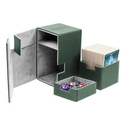 Ultimate Guard Flip'n'Tray  Deck Case 100+ Standard Size XenoSkin Green