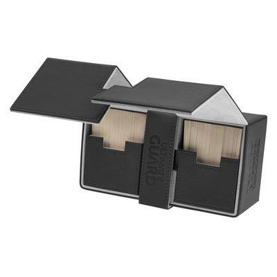 Ultimate Guard Twin Flip'n'Tray  Deck Case 200+ Standard Size XenoSkin Black