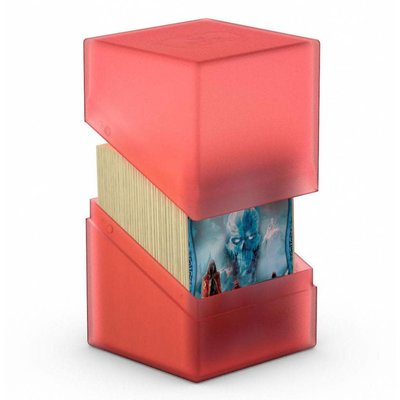 Ultimate Guard Boulder & Trade Deck Case 100+ Standard Size Ruby