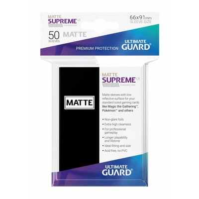 Ultimate Guard Supreme UX Sleeves Standard Size Matte Black (50)