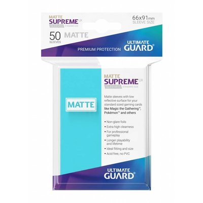 Ultimate Guard Supreme UX Sleeves Standard Size Matte Aquamarine (50)