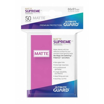 Ultimate Guard Supreme UX Sleeves Standard Size Matte Pink (50)